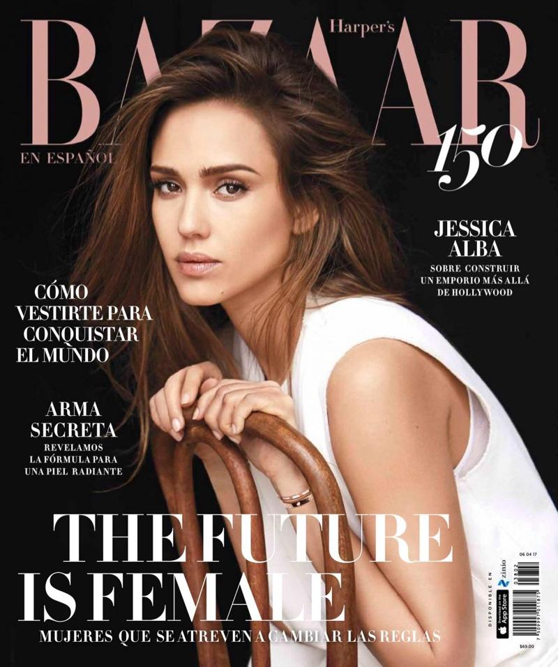 Jessica Alba on Harper's Bazaar Mexico March 2017 Cover