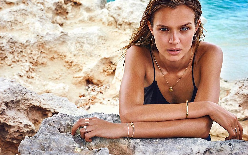 Josephine Skriver Hits the Beach for New Jewelry Campaign