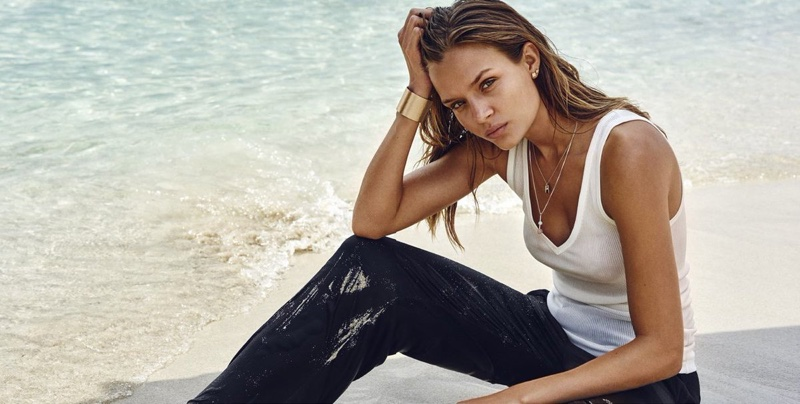 Danish model Josephine Skriver shines in Pilgrim Jewellery's spring 2017 advertising campaign