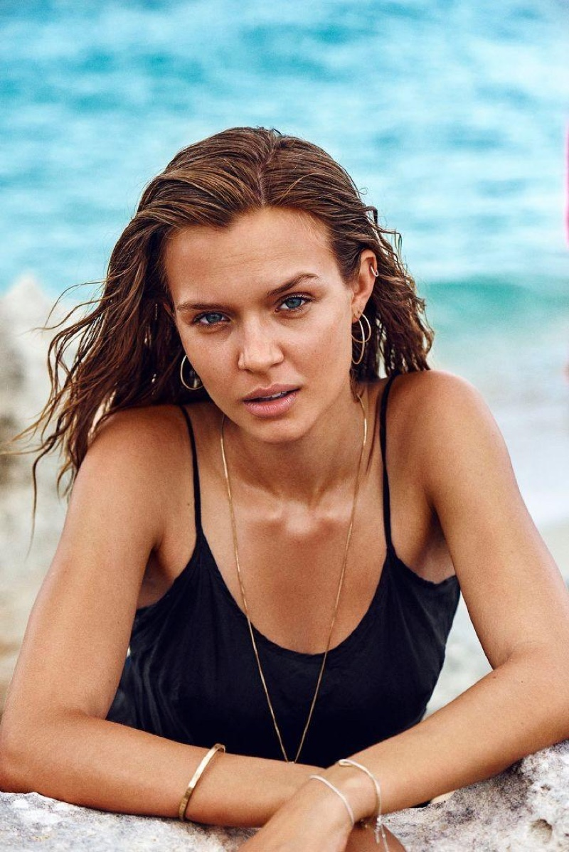 Model Josephine Skriver stars in the latest campaign from Pilgrim Jewellery