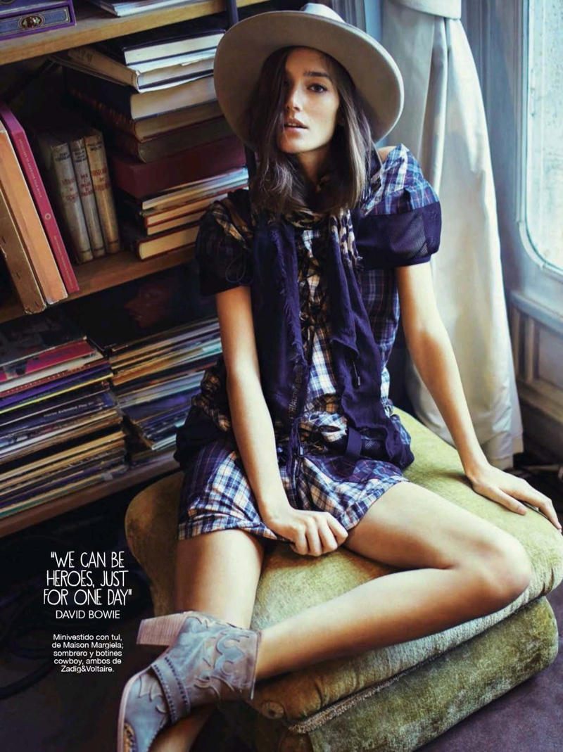 Josephine le Tutour Wears Rock & Roll Style for Glamour Spain