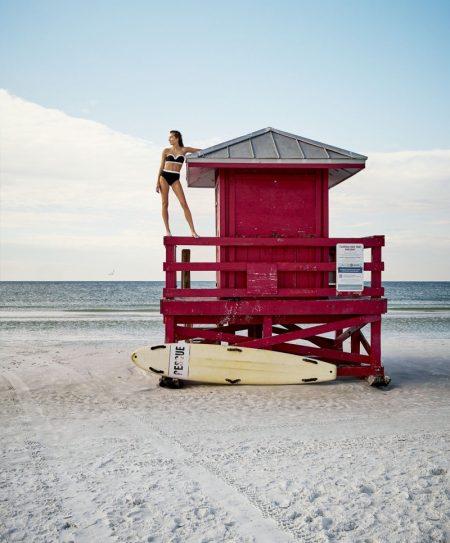 Josephine le Tutour Models Beach-Ready Looks for Harper's Bazaar