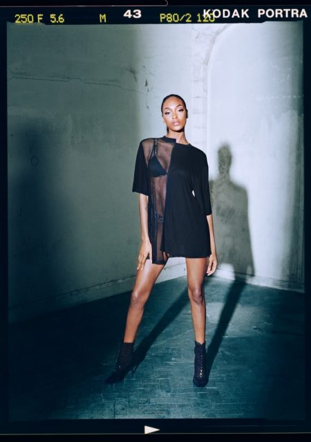 Model Jourdan Dunn poses in her new collection for Missguided - Londunn x Missguided collaboration