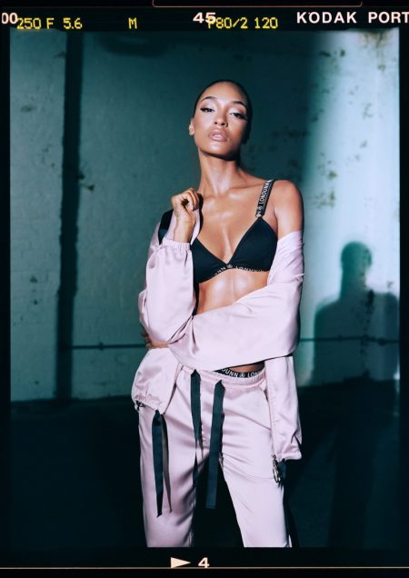 Jourdan Dunn poses in the Londunn x Missguided collaboration
