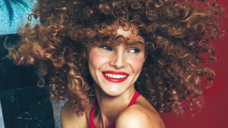 Juju Ivanyuk Sports A Curly Hairstyle in Glamour Italia