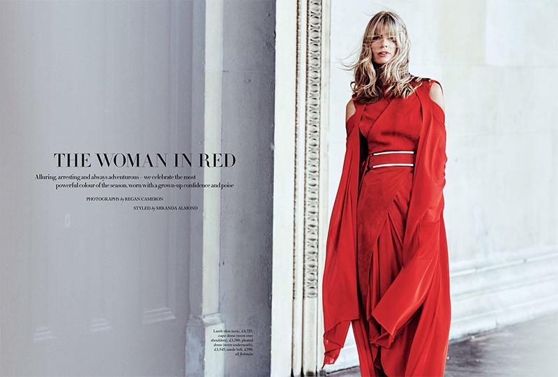 Julia Stegner stars in Harper's Bazaar UK's April issue
