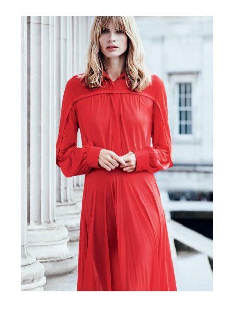 Julia Stegner is 'The Woman in Red' for Harper's Bazaar UK
