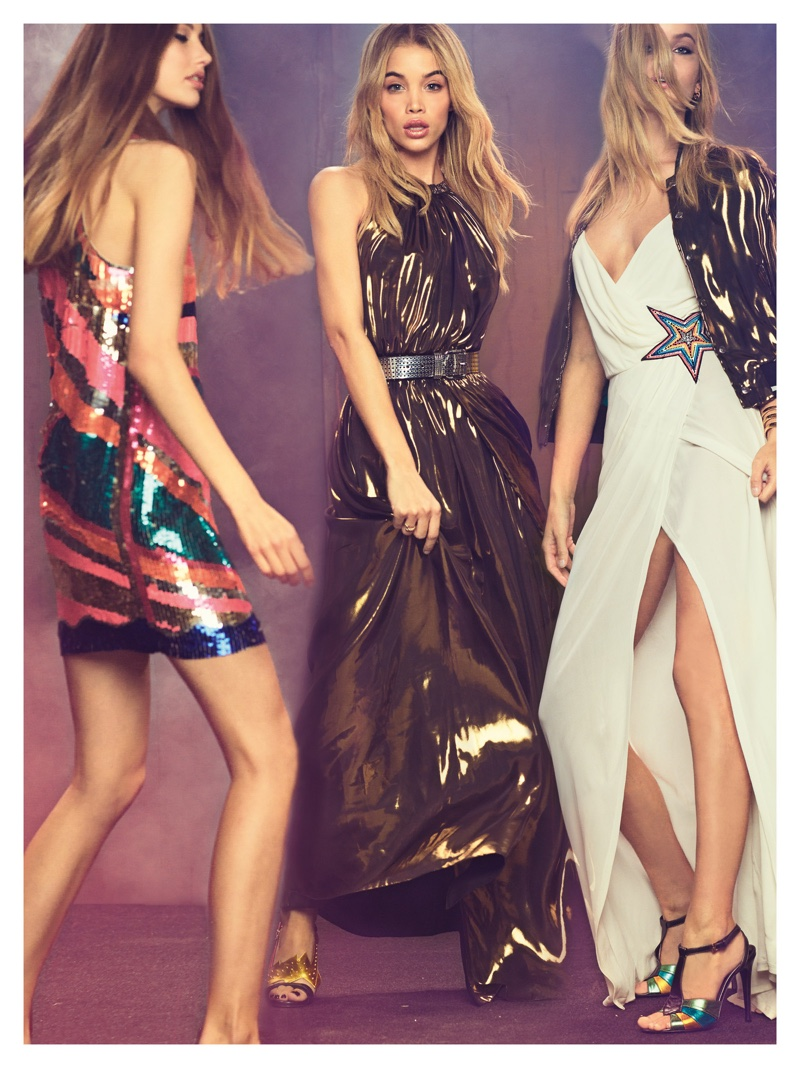 Just Cavalli spotlights metallic and sequin styles for spring 2017 campaign