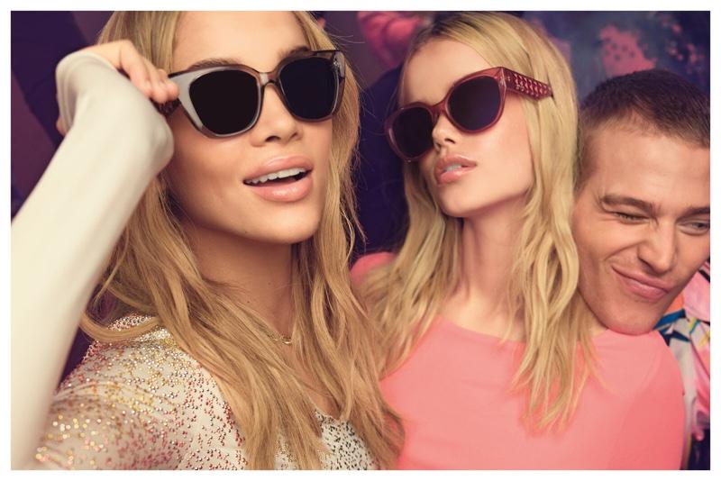 Jasmine Sanders, Frida Aasen and Matthew Noszka star in Just Cavalli's spring 2017 eyewear campaign