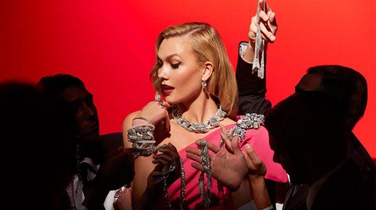 Karlie Kloss channels Marilyn Monroe's Diamonds Are a Girl's Best Friend performance for Swarovski film