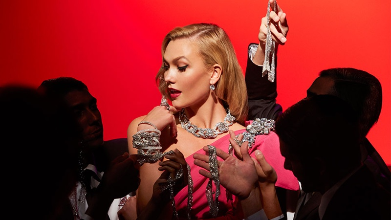 Karlie Kloss channels Marilyn Monroe's Diamonds Are a Girl's Best Friend performance for Swarovski film