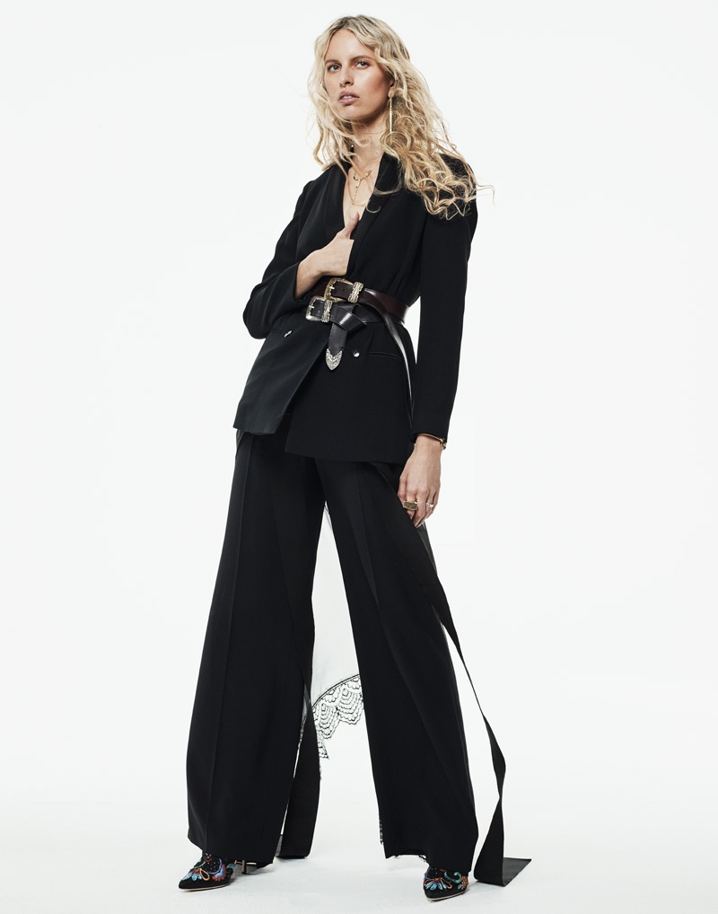 Karolina Kurkova wears the spring collections in the fashion editorial