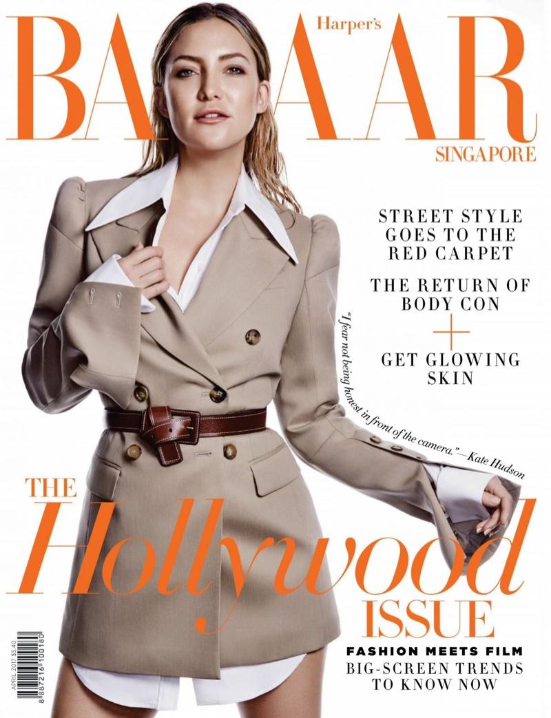 Kate Hudson on Harper's Bazaar Singapore April 2017 Cover