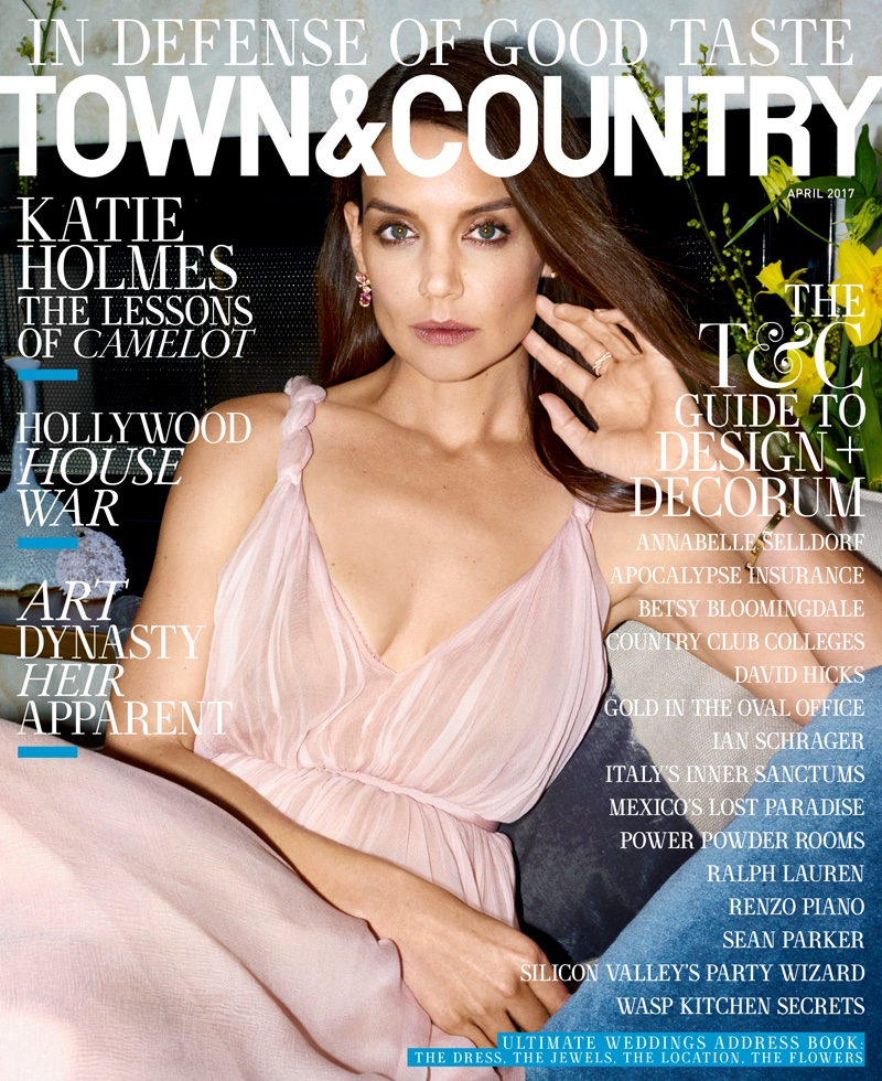 Katie Holmes on Town & Country Magazine April 2017 Cover