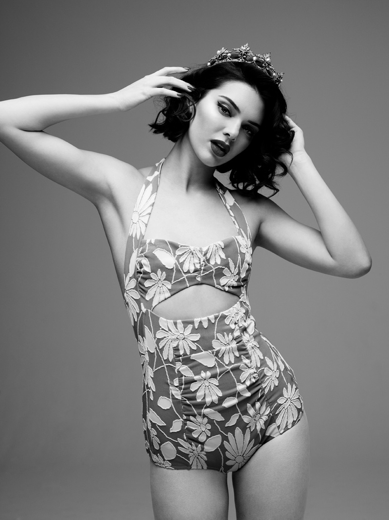 Kendall Jenner is a Brunette Marilyn Monroe for LOVE Film