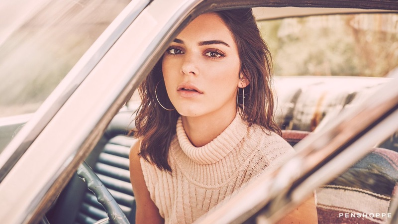 Model Kendall Jenner poses in Penshoppe's spring 2017 campaign