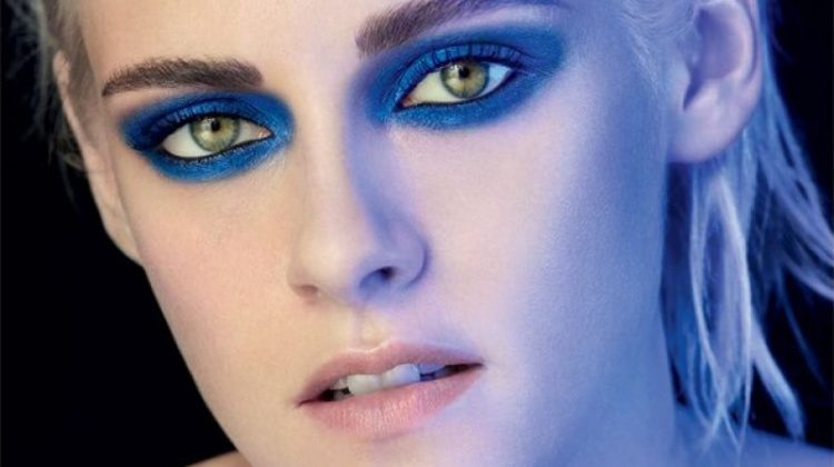 Kristen Stewart goes for a smokey eyed look in Chanel's Ombre Premiere Eyes advertising campaign