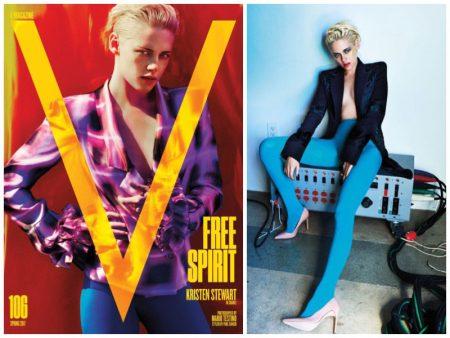 Kristen Stewart Poses in Tailored Blazers for V Magazine