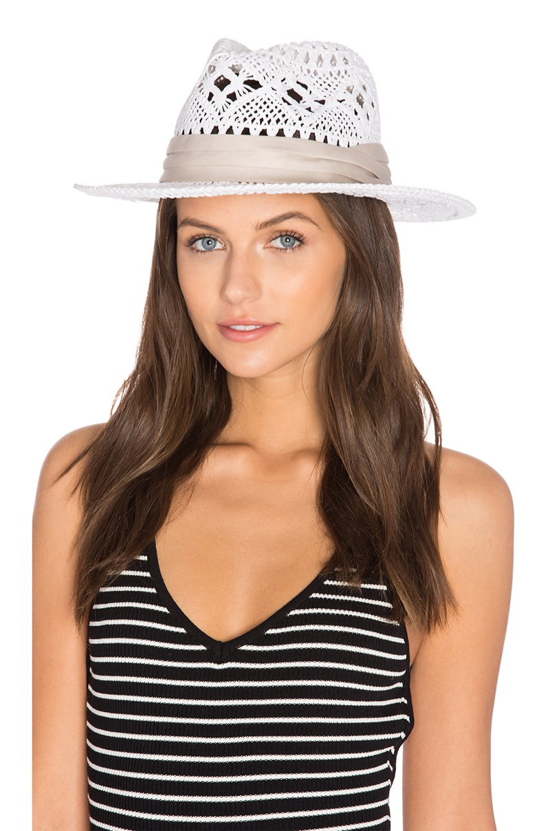 L*SPACE Jet Setter Hat in White $64