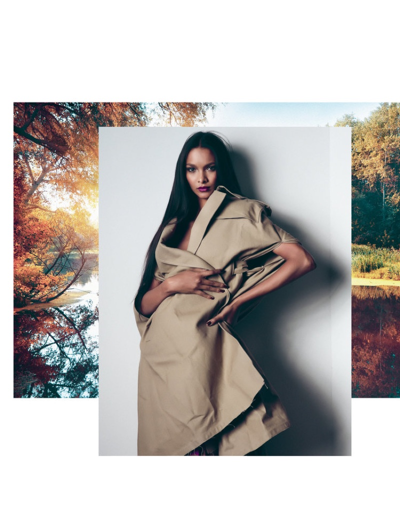 Lais Ribeiro covers up in Valentino coat and skirt