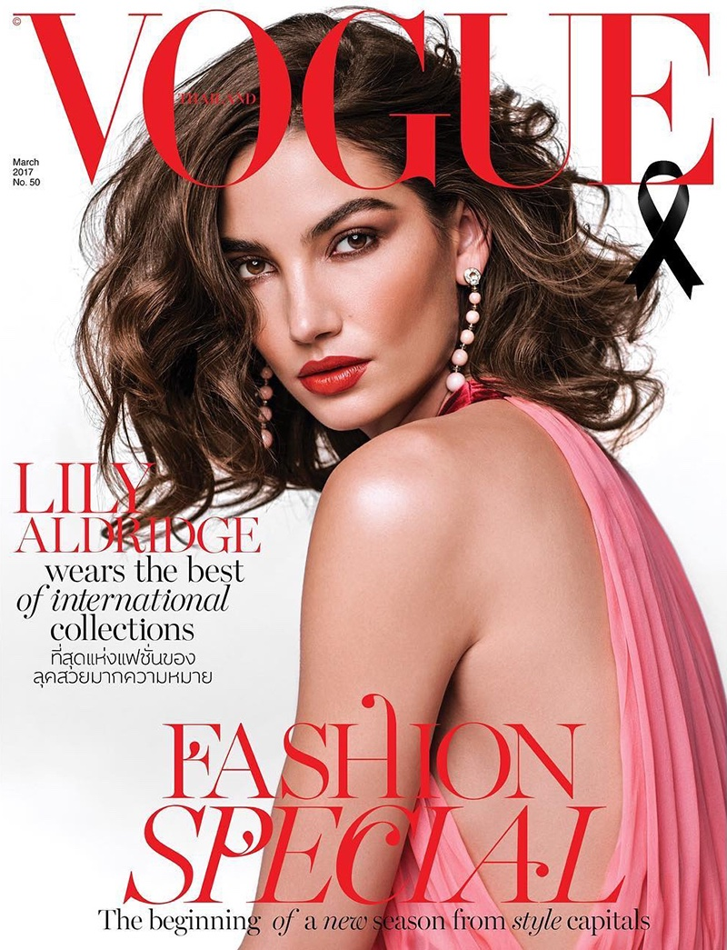 Lily Aldridge on Vogue Thailand March 2017 Cover
