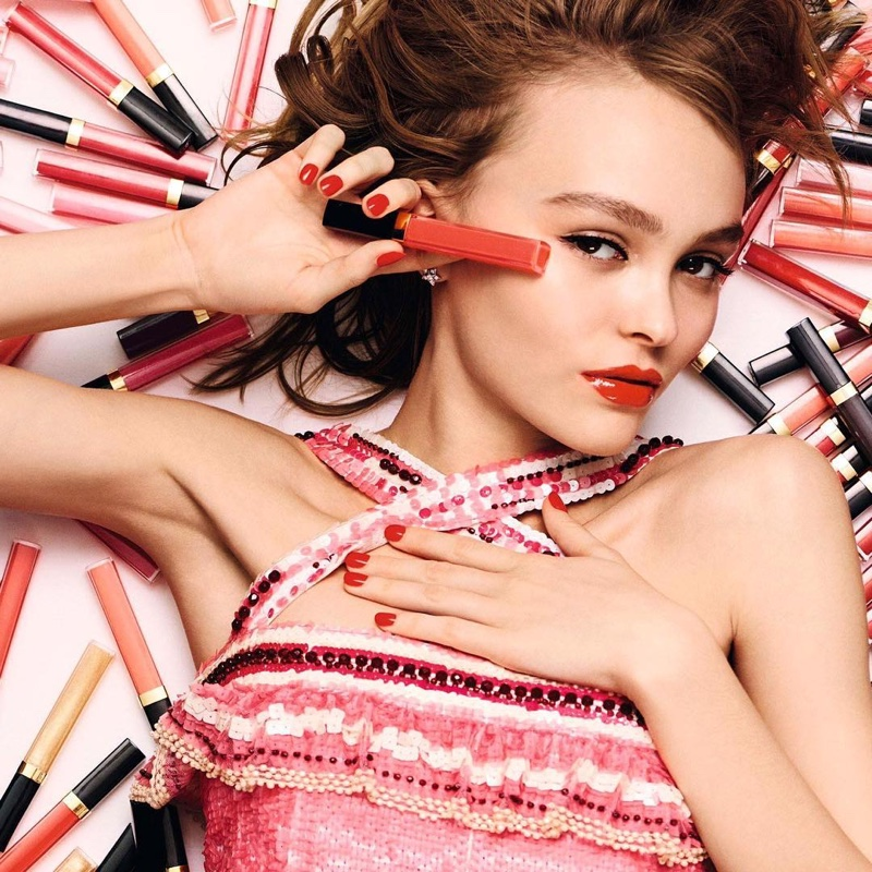 Lily-Rose Depp stars in Chanel's Rouge Coco Gloss campaign