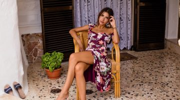 Patricia Manfield Poses in Majorelle's Breezy Spring 2017 Dresses
