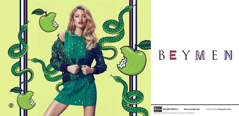 An image from Beymen's spring 2017 advertising campaign starring Martha Hunt