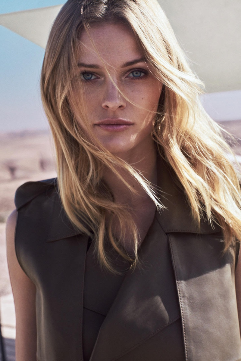 Edita Vilkeviciute gets her closeup in Massimo Dutti's spring-summer 2017 advertising campaign