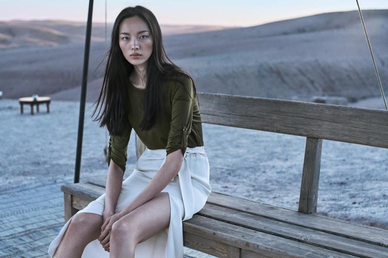 Fei Fei Sun stars in Massimo Dutti's spring-summer 2017 campaign
