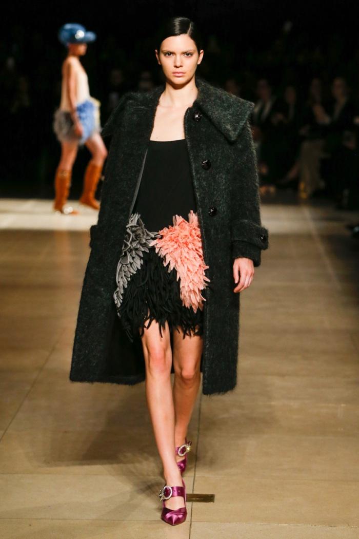 Kendall Jenner walks Miu Miu's fall-winter 2017 runway show