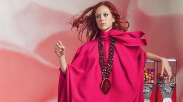 Natalie Westling Looks Pretty in Pink Styles for Vogue China