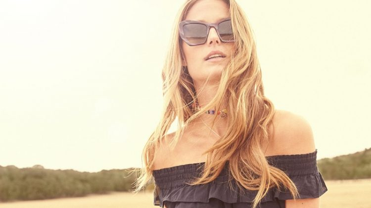 MISA Los Angeles Gia Off-the-Shoulder Tassel-Trim Minidress andPrismBrasilia Acetate Sunglasses