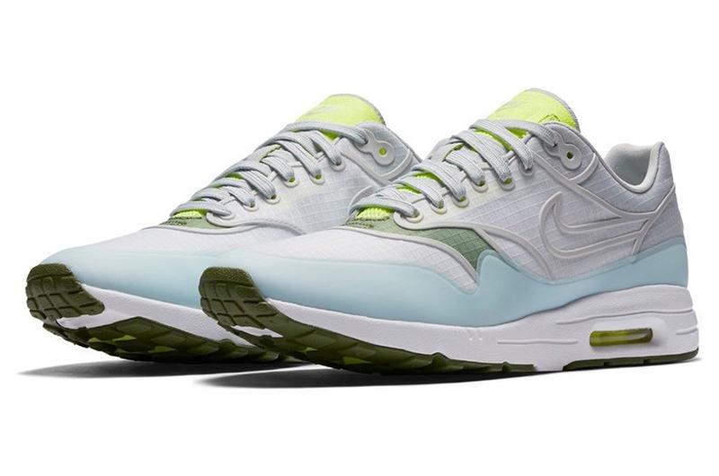 Nike Air Max 1 Ultra 2.0 SI Sneaker in White/Platinum/Volt/Green $140