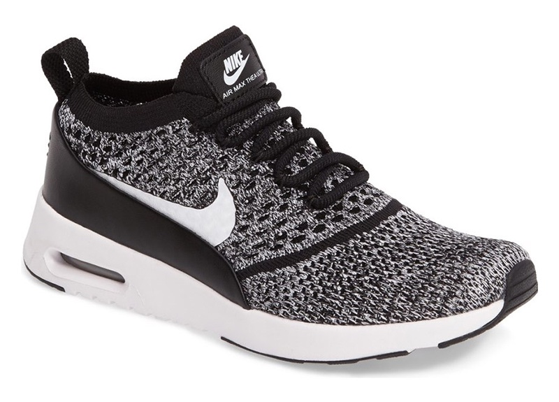 Nike Air Max Thea Ultra Flyknit Sneaker in Black/White $150