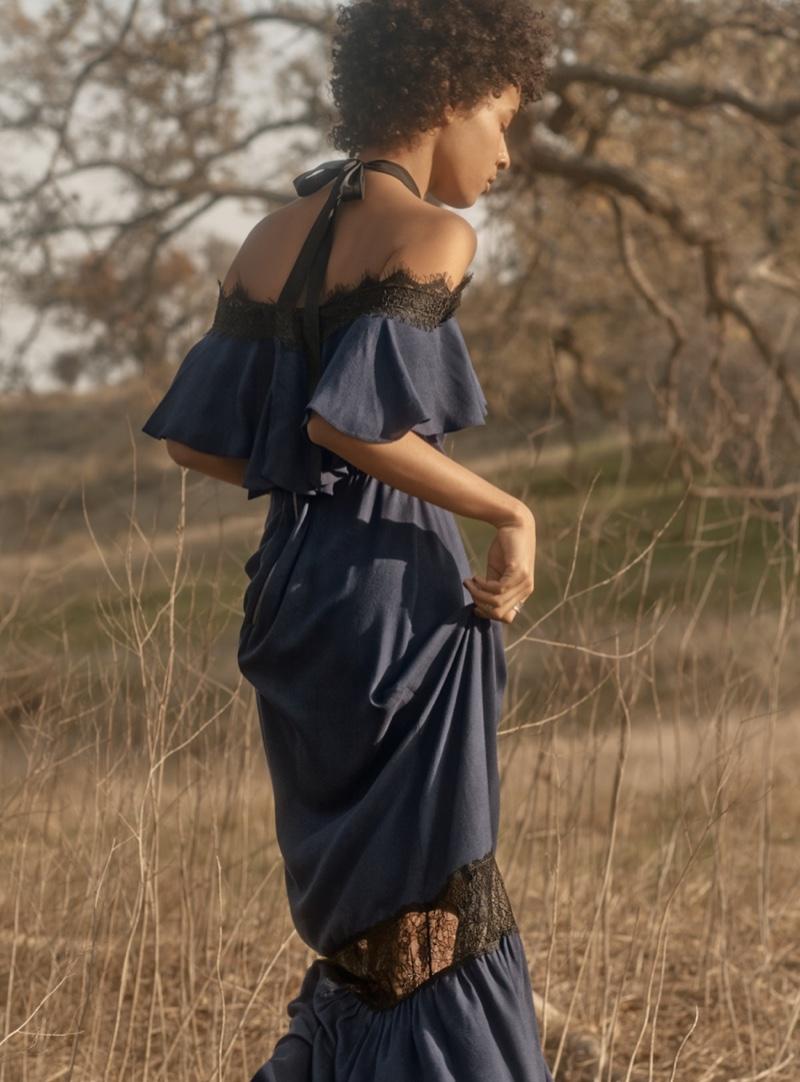 Alice + Olivia Mitsy Halter Maxi Dress $485