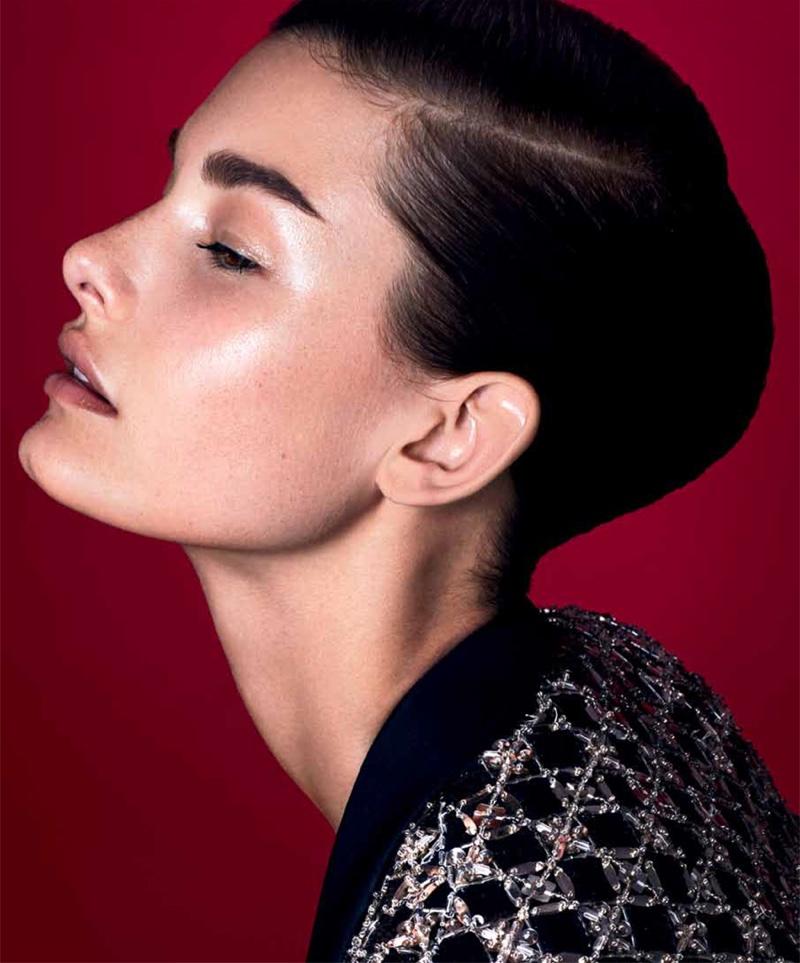Ophelie Guillermand models Zuhair Murad blazer