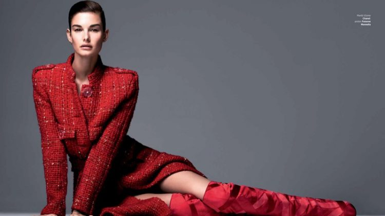 Ophelie Guillermand Looks Sharp in Harper's Bazaar Serbia Cover Story