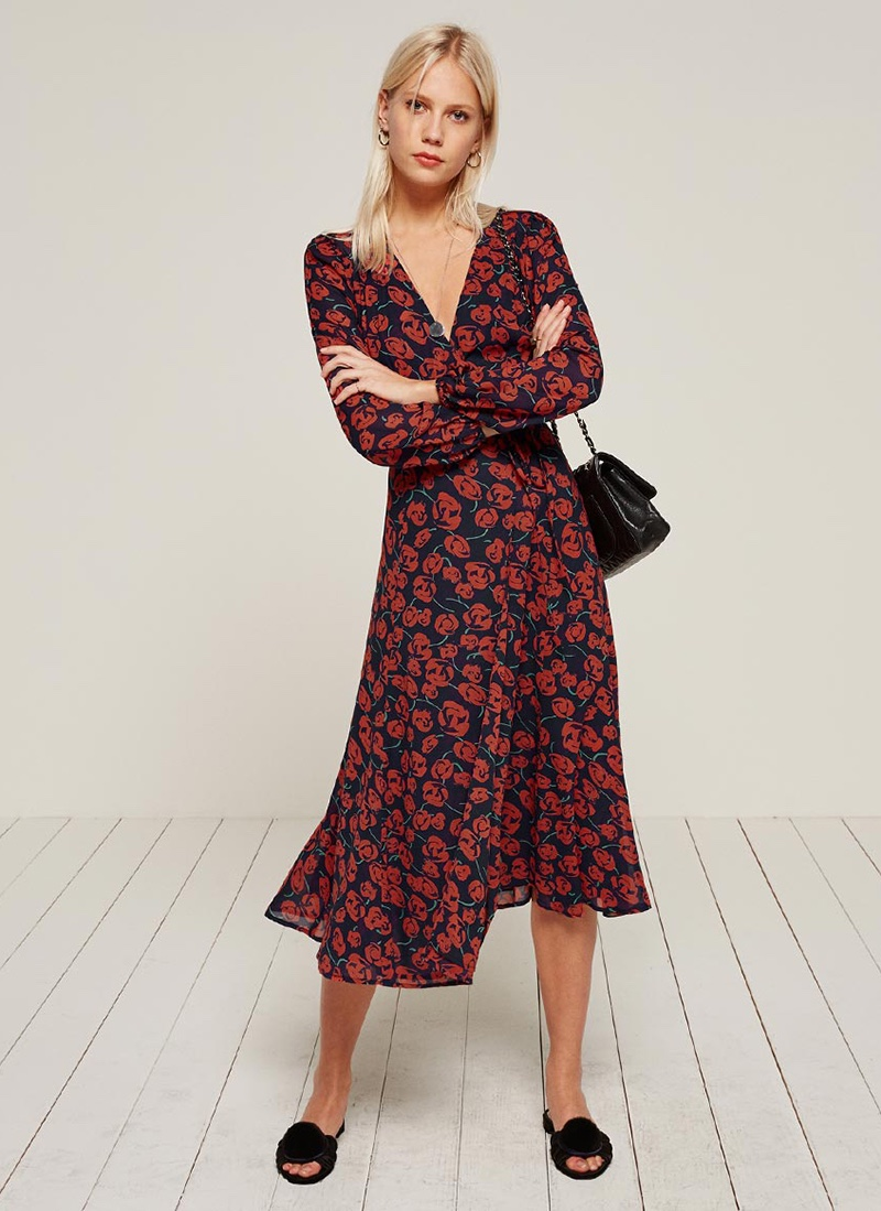 Get ready for warm weather in Reformation's wrap dress