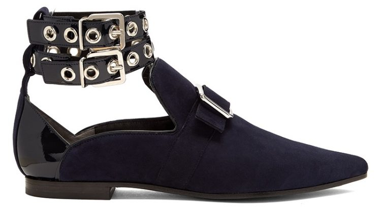 Robert Clergerie x Self-Portrait Lolli Point Toe Suede Flats in Navy $531, Available at Matches Fashion