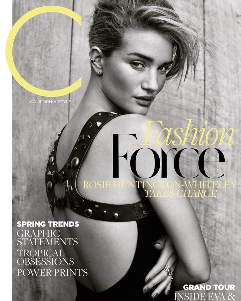 Rosie Huntington-Whiteley on C Magazine March 2017 Cover