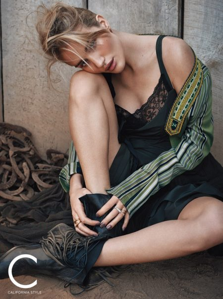 Rosie Huntington-Whiteley Heads Outdoors for C Magazine