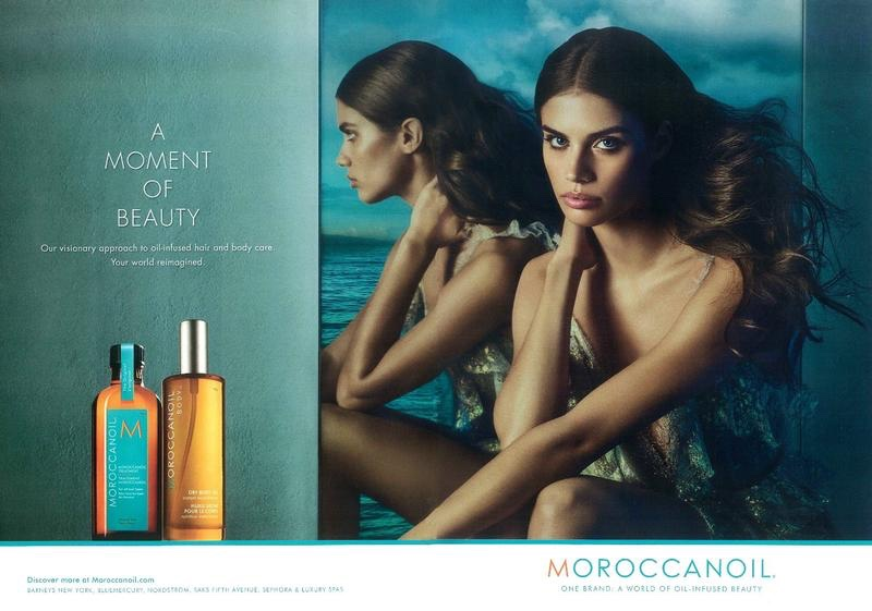 db740456705 Sara Sampaio Has Gorgeous Hair in Moroccanoil Campaign