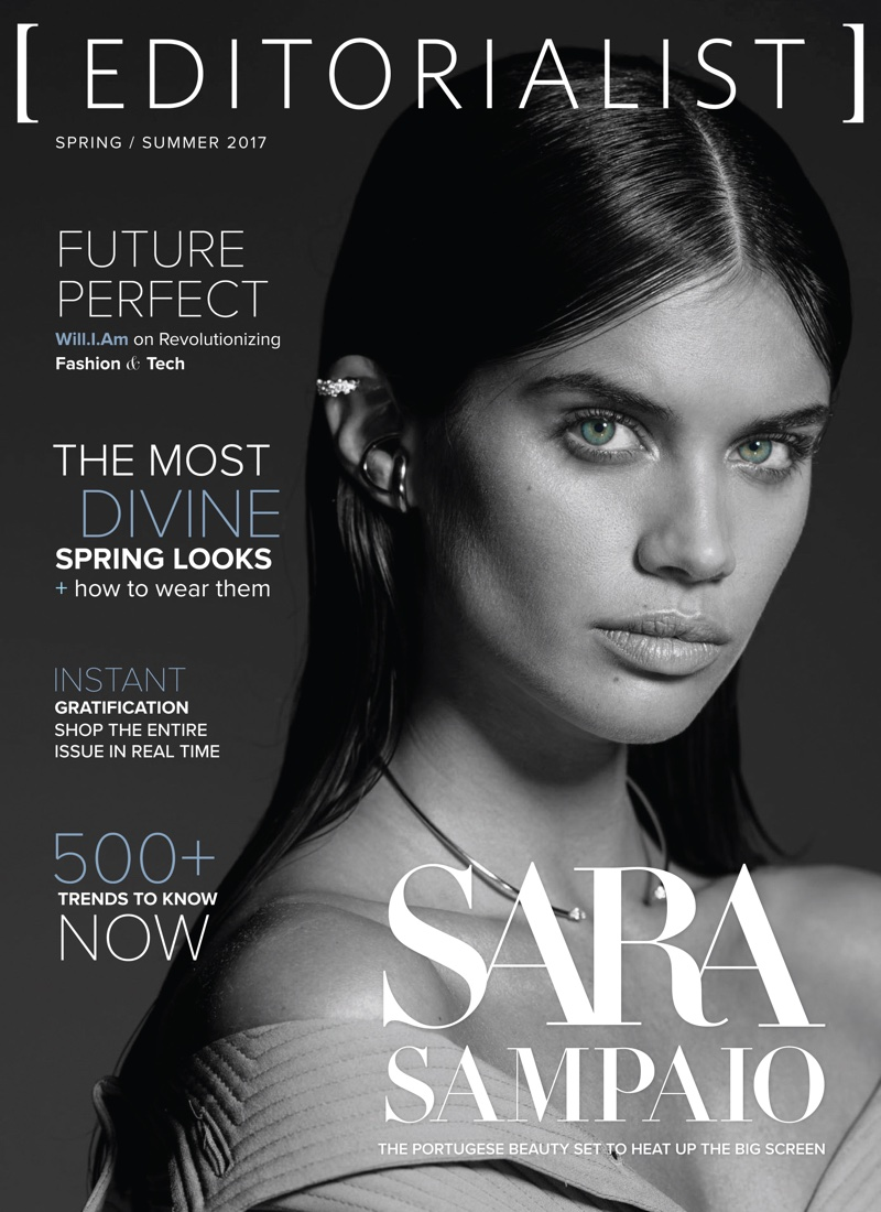 Sara Sampaio on The Editorialist Spring/Summer 2017 Cover