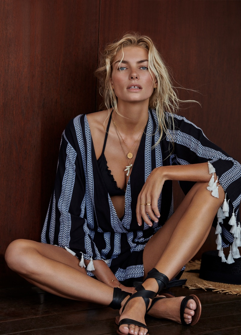 Jessica Hart stars in Seafolly's summer 2017 campaign