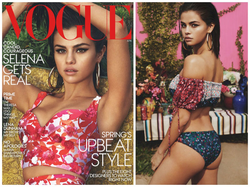 Selena Gomez Embraces Bold Prints in Her First Vogue Cover Shoot