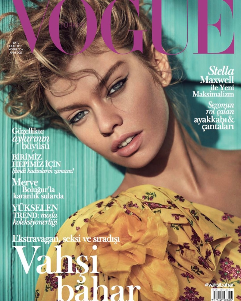 Stella Maxwell on Vogue Turkey March 2017 Cover
