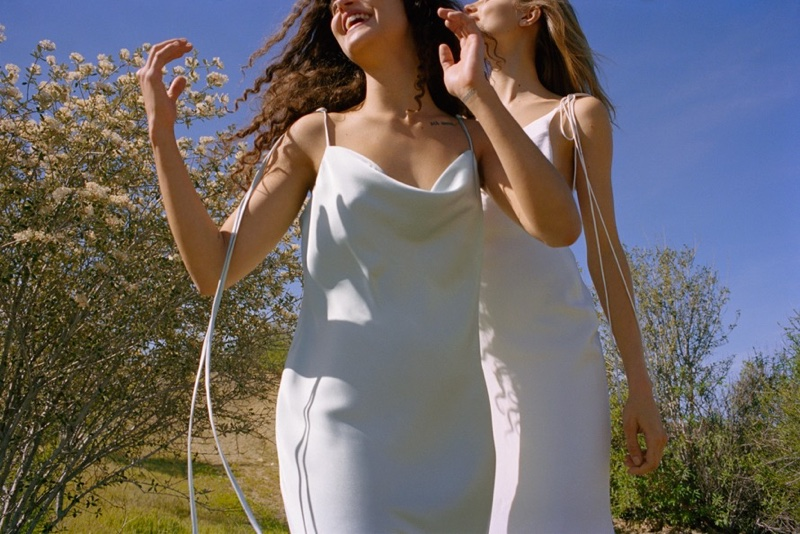 Slip dress silhouettes take the spotlight for Topshop Bride's debut collection