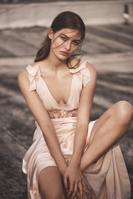 Grace Elizabeth poses in Topshop Bride 2017 campaign