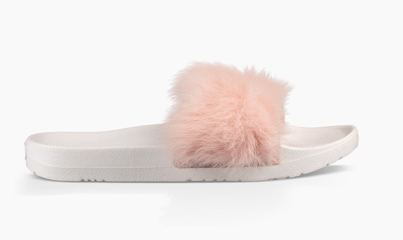 UGG Royale Furry Slide Sandals Shop
